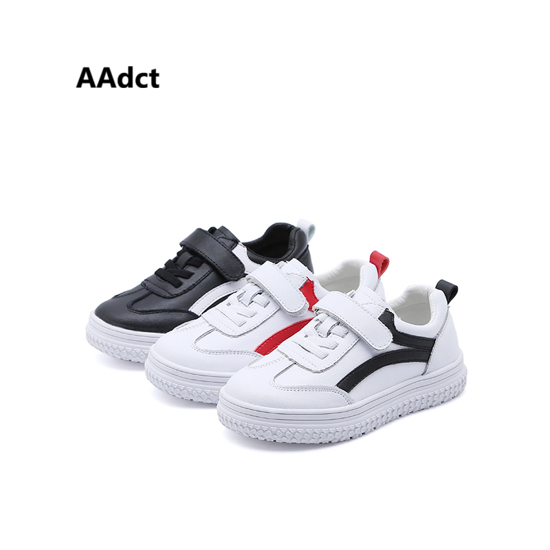 AAdct new 2018 boys shoes running sports girls shoes sneakers flats Brand PU leather children shoes spring autumn fashion