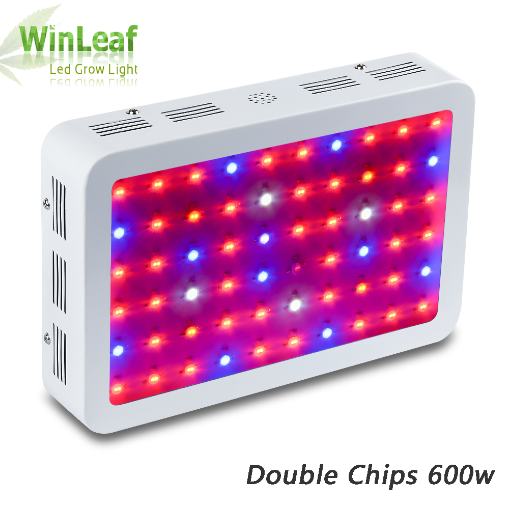 Led Plant Grow Light 600W Full Spectrum Double Chips 410nm-730nm Ideal for All Phases of Plant Growth Greenhouse Hydroponics 216w ufo led grow light 72x3w full spectrum ac85 265v hydroponics plant lamp ideal all phases of plant growth and flowering bj