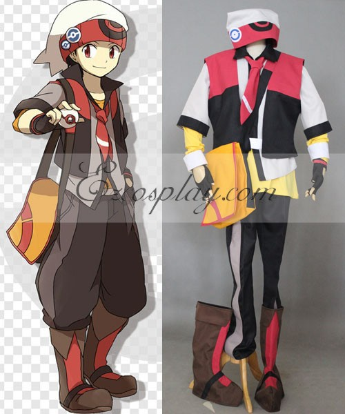 Pokemon Ruby Cosplay Costume E001
