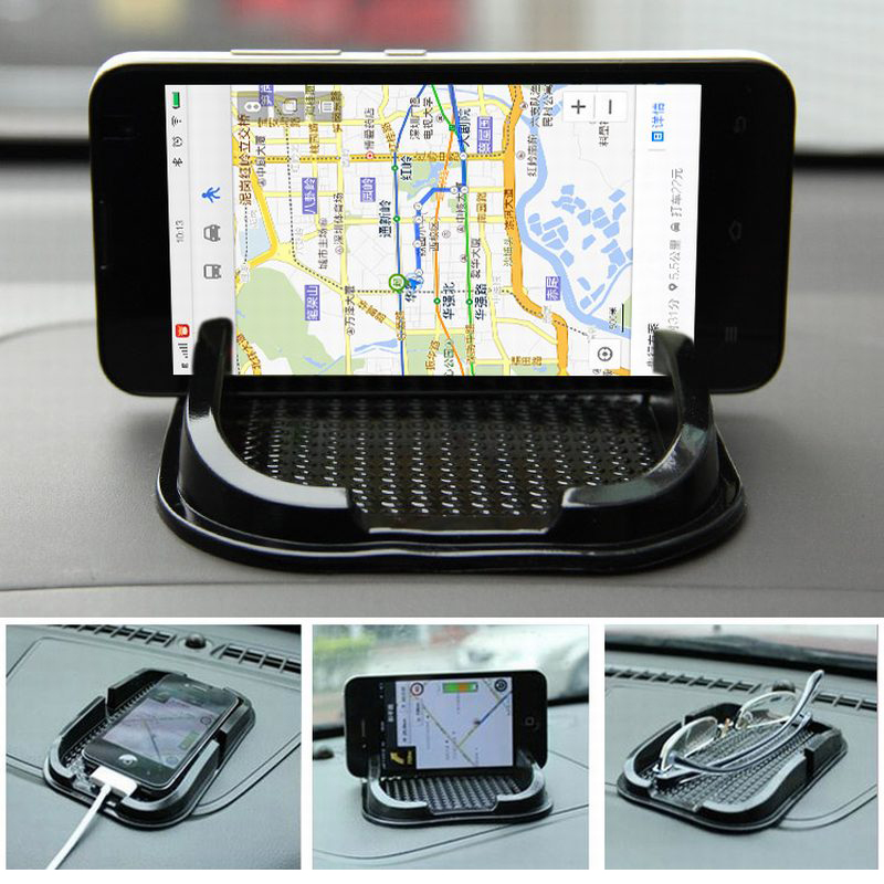 Black Car Dashboard Sticky Pad Mat Anti Non Slip Gadget Mobile Phone GPS Holder Interior Accessories Soporte For Meizu M2 Mini