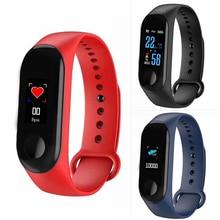 купить Waterproof Sports Smart Bracelet Health Sleep Fitness Tracker Heart Rate Monitor Smart Wristband Pedometer Watch For iOS Android дешево