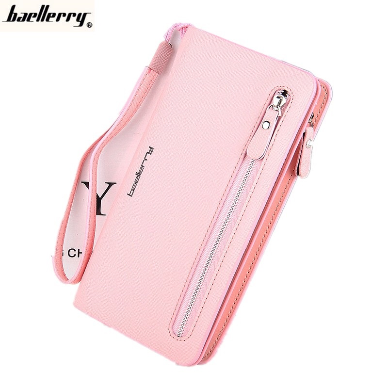 Baellerry Long Women Leather Wallets Female Purse Multifunction Credit Card Holder Iphone6 plus holder Money Coin Clip 201502 wallets men brand baellerry large capacity 16 card position credit card holder long zipper coin purse money bag purse cartera