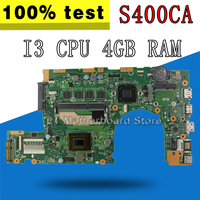 S400CA Motherboard I3 3217 4GB RAM For ASUS S400C S400CA s500ca Laptop motherboard S400CA Mainboard S400CA Motherboard test OK