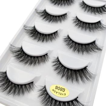 5 pairs 100% Real Fake Mink Eyelashes 3D Natural False Eyelashes 3d Mink Lashes Soft Eyelash Extension Makeup Kit Cilios G806 1