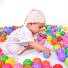 Colorful 100pcs/lot  5.6 cm Soft Plastic Water Pool Ocean Wave Ball Baby Funny Toys stress air ball outdoor fun sports