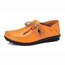 Femmes en cuir mocassins chaussures mode appartements casual chaussures choisit des chaussures zapatillas mujer pour l'expédition plus la taille
