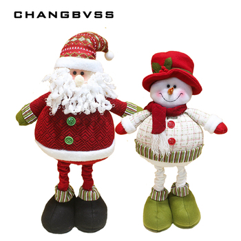2pcs/lot 70cm Large Size Santa Claus Snowman Dolls Christmas Tree Ornaments, Xmas Ornaments For Home New Year Gift Free Shipping