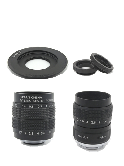 2 in 1 CCTV 25mm f1.4/35mm F1.7 TV Movie lens+C Mount for Panasonic Micro m4/3 G7 GF7K GX7 GM5 GM1 GM4 G6 GF6 GH3 GX1 G3 GH2 G10