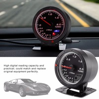 Universal Car Boost Gauge 60mm LED Turbo Boost Meter Gauge Black Shell For Auto Racing Car 0 200 Kpa Car Styling