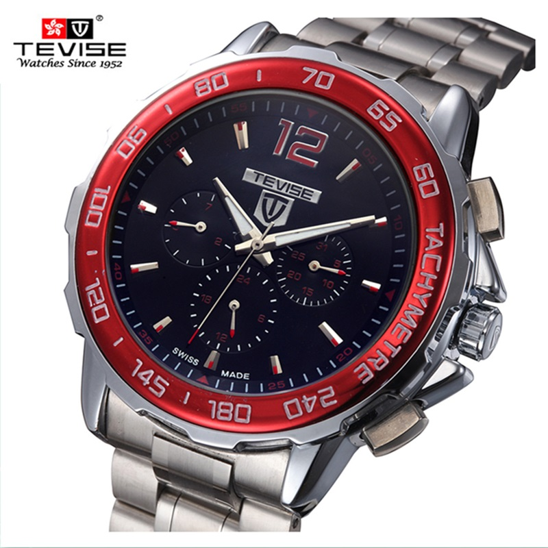 130e9906eee Famous Brand TEVISE Automatic Mechanical Men Watch Discolored Glass Big  Dial Luxury Watch Luminous Watch Clock Steel Wristwatch-in Mechanical  Watches from ...