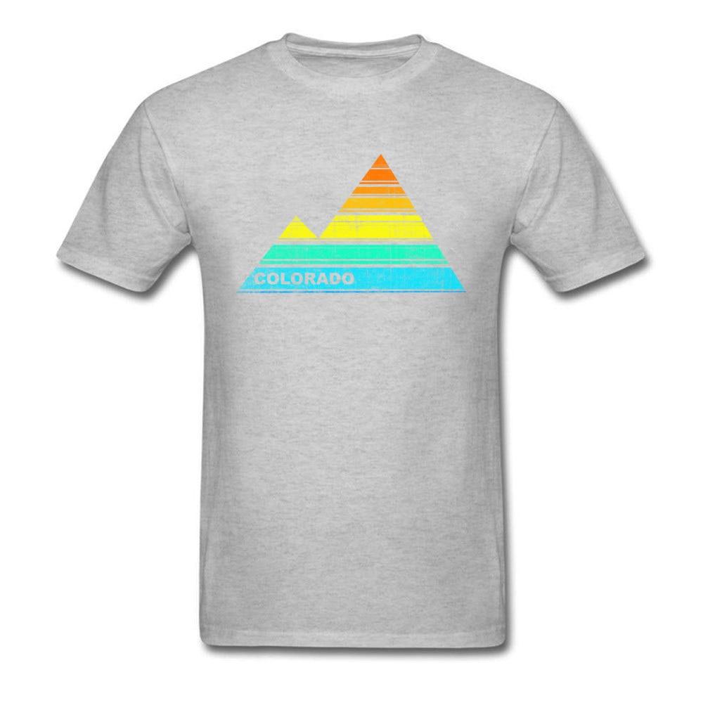 Tops Shirts retro colorado souvenir April FOOL DAY Cotton Fabric Round Collar Men T Shirts Casual Tops T Shirt 2018 Discount retro colorado souvenir grey