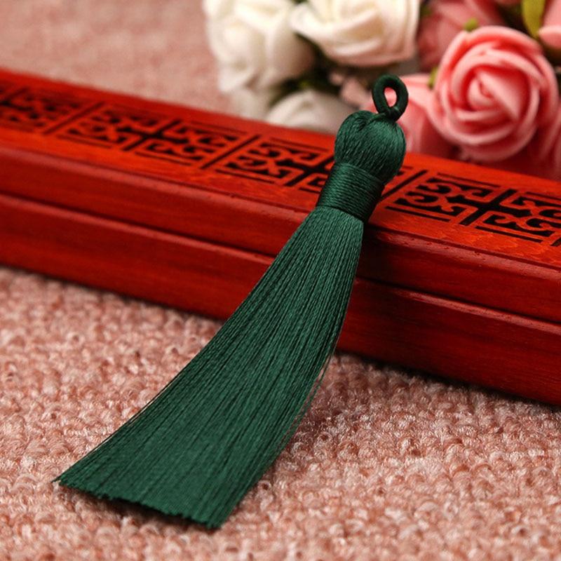 25 цветов, Новое поступление, высокое качество, горячая Распродажа, 1 шт., ручная работа, уникальные красивые шелковые кисточки, свадебные ювелирные аксессуары - Цвет: Dark green