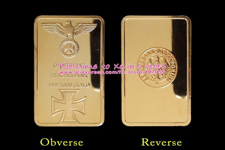 xda0003i германия 1 унц. позолоченные золотой слиток 5 шт. Дойче орел с крестом одетые золото 999/1000