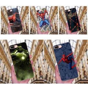 Человек-паук Marvel Халк Топ ТПУ дизайн для Huawei P7 Honor 4C 5A 5C 5X 6 6C 6A 6X 7 7X 8 9 V8 V10 Y3II Y5II Y6II G8 Play Lite