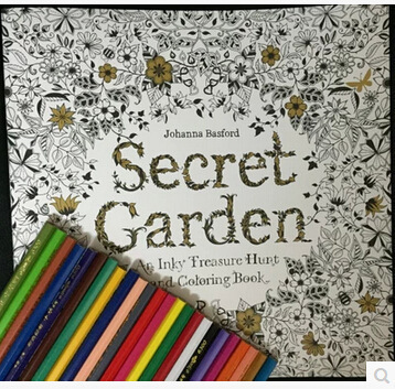 Secret Garden Buku Mewarnai Menghilangkan Stres Pola Membunuh