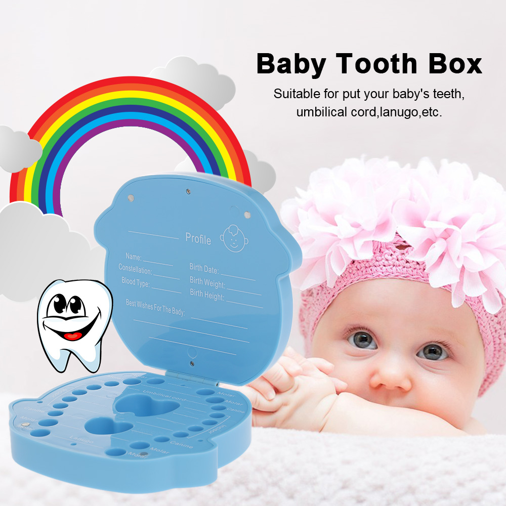 Baby Plastic Tooth Box Organizer Milk Teeth Storage Collect Teeth Umbilica Save Gifts Baby Care(China)