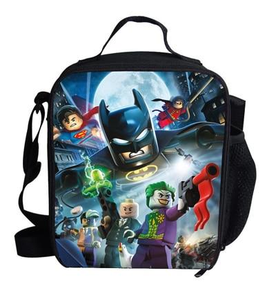 Cute 12 inch Mini Boys lunch bag Child Batman thermal bag for ...