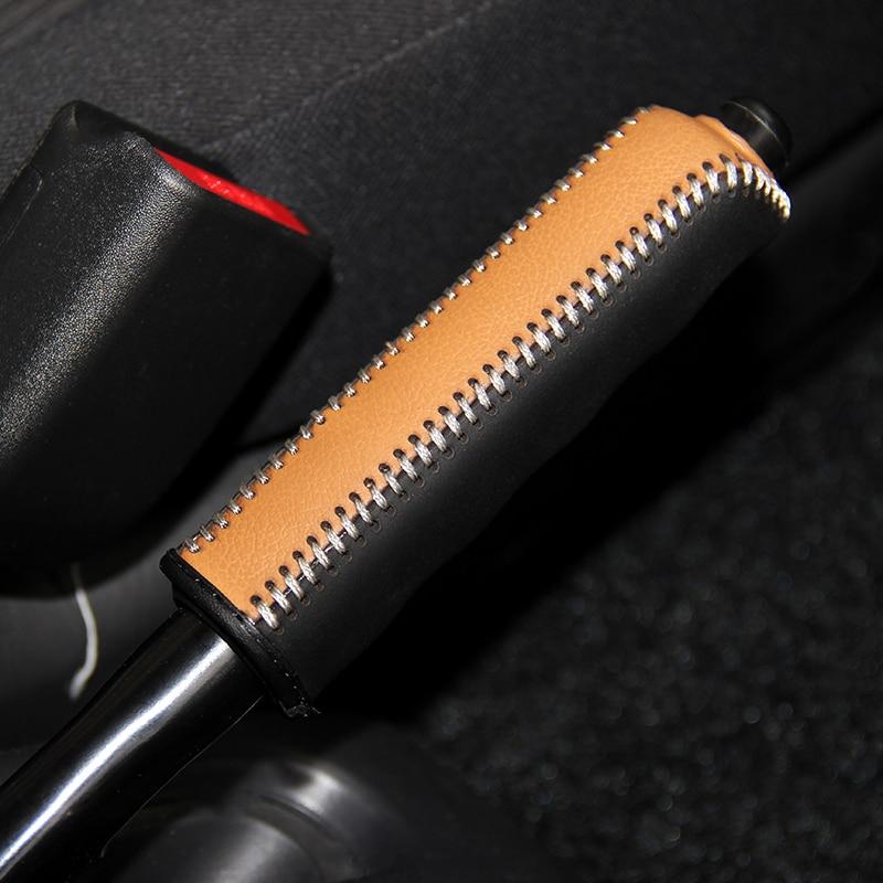 Cuoio di strato superiore per il Caso di Copertura del freno a mano Per Suzuki Jimny copertura del freno a mano Top in vera pelle di copertura del freno a mano auto