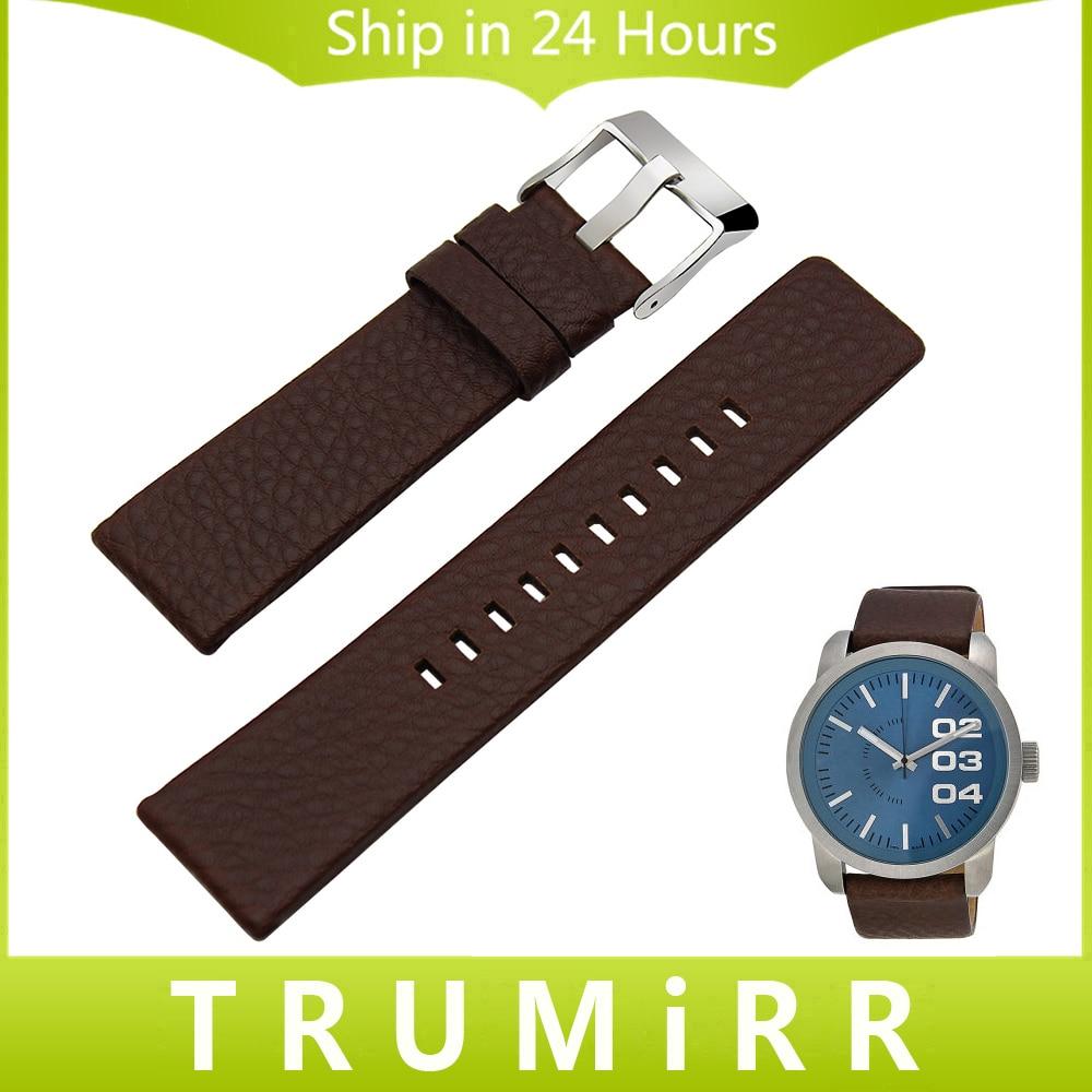 20mm 24mm 26mm 28mm Watchband for Diesel DZ7313 22 7257 Men Women Calf Genuine Leather Watch