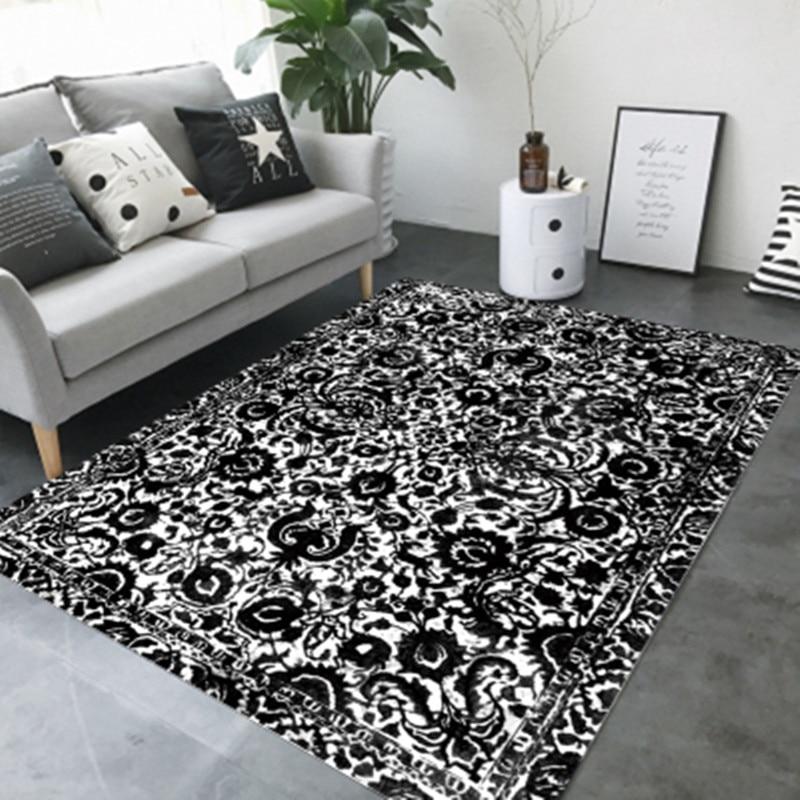 Современные упрощенный искусство чернила ковры для гостиной Спальня мягкий ковер домашний диван Кофе изучения таблицы коврик прикроватны...