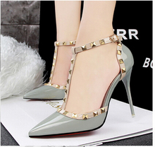 European Design New Spring High Heel Pumps Sexy Strap Women Point Toe Dress Shoes Fashion High Heel Shoes Lady Footwears ML2703