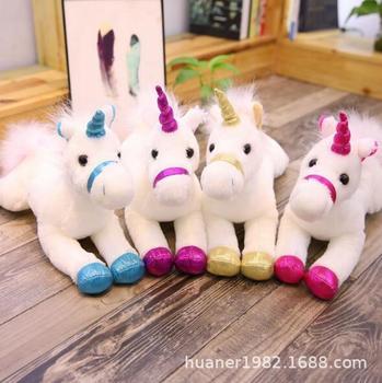 New arrive Large licorne doll plush toy Unicorn Stuffed pony animal toy Christmas gifts фото
