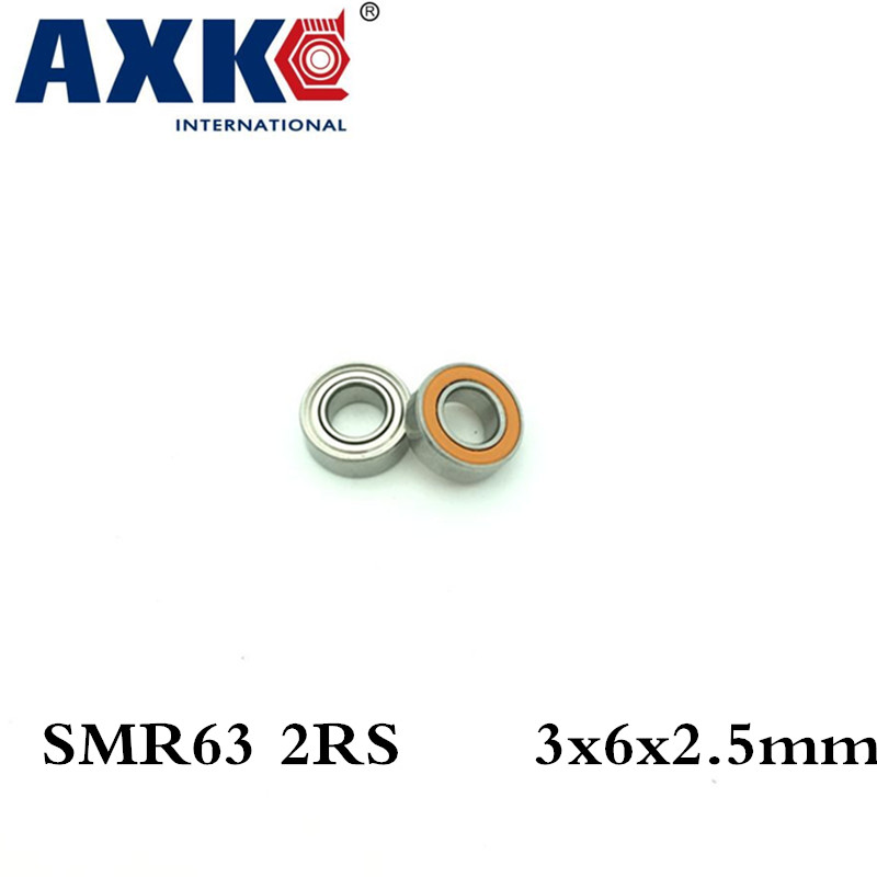 Axk 3x6x2.5 Smr63 2rs Cb Abec7 3x6x2.5mm Stainless Steel Hybrid Ceramic Ball Bearing free shipping s693 2rs cb ld abec7 3x8x4 mm stainless steel hybrid ceramic ball bearings fishing vessel bearing