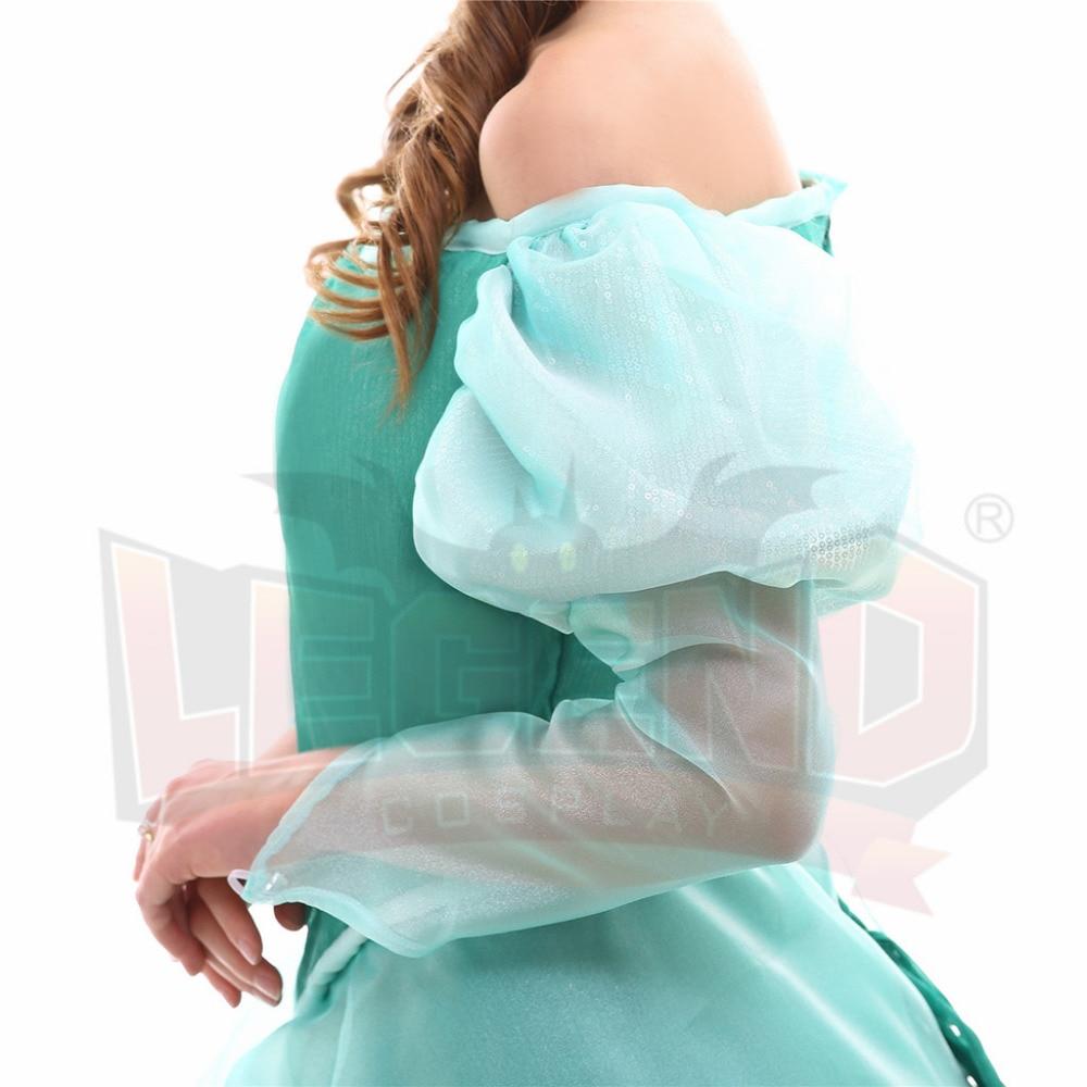 The Little Mermaid Ariel Princess Dress Ariel Green Wedding Dress ...