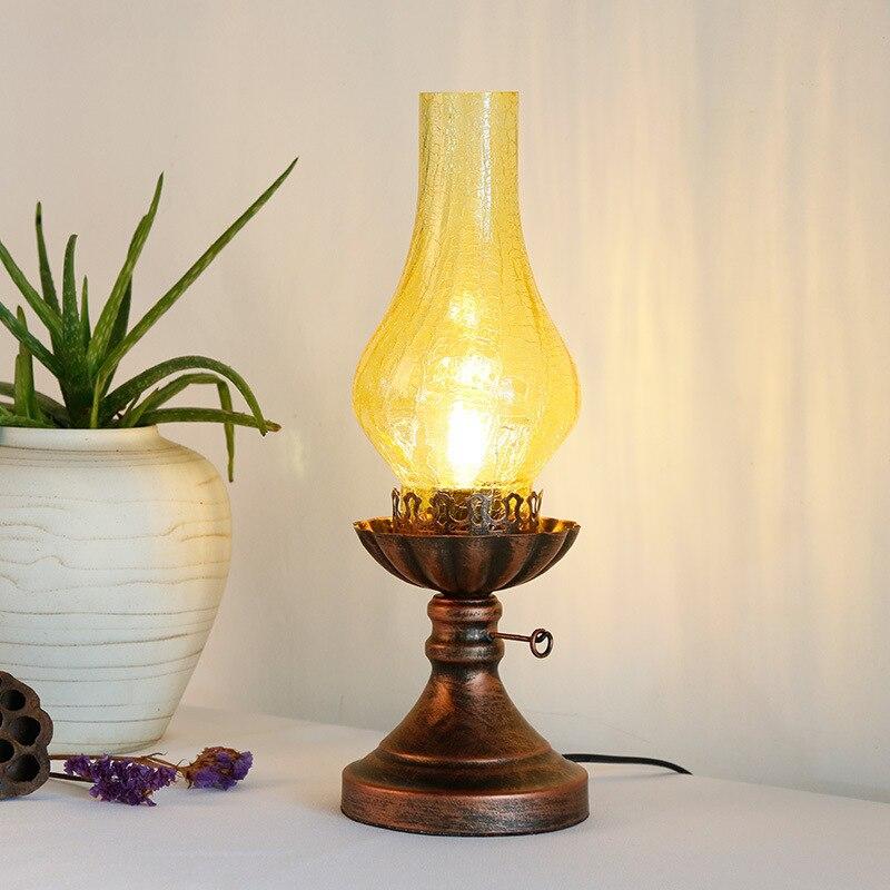 Китайский стиль ретро лампа старый стиль Творческий керосин спальня ночники Китайский Классическая исследование декоративные настольные ...