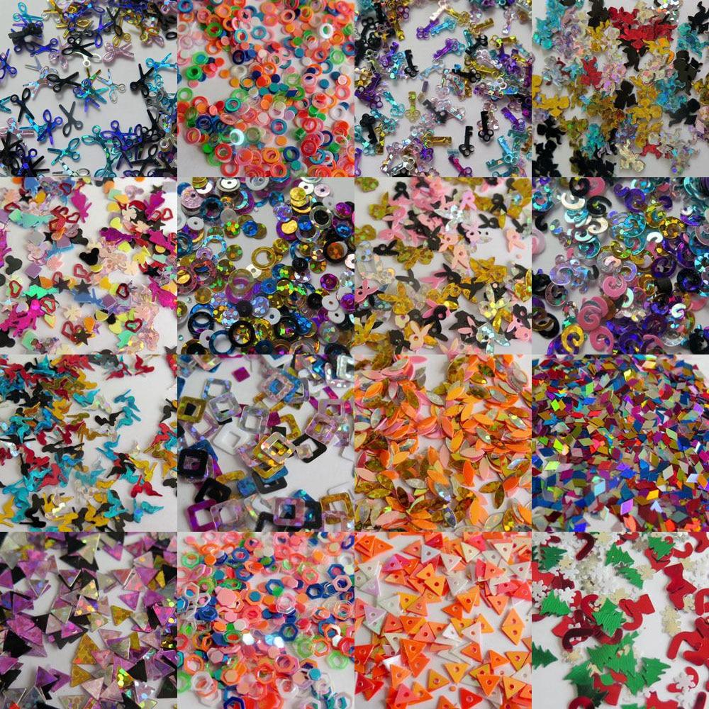 PüNktlich 20 Gr/beutel Niedlich Verschiedenen Farbe Mix Glitter Stück Nagelkunst Shinny Glitter Nette Dekoration Mix Beutel 100% Hochwertige Materialien Strass & Dekorationen Nails Art & Werkzeuge