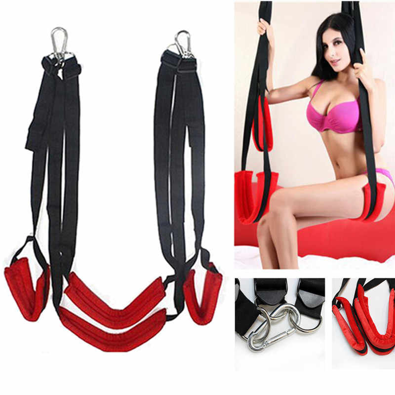 Home Sex Furniture Swing Luxury Soft Material Sex Furniture Fetish Bandage Love Sex Swing Chairs Hanging Door Swing For Couples