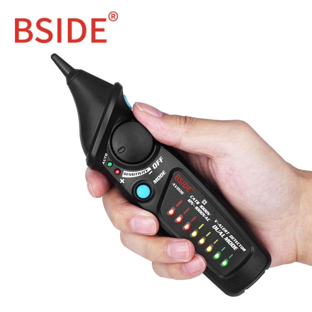 BSIDE AVD06 Dual Modus Nicht-kontaktieren Spannung Detektor AC 12-1000 v Auto/Manuelle NCV Tester Live draht Überprüfen Empfindlichkeit Einstellbar