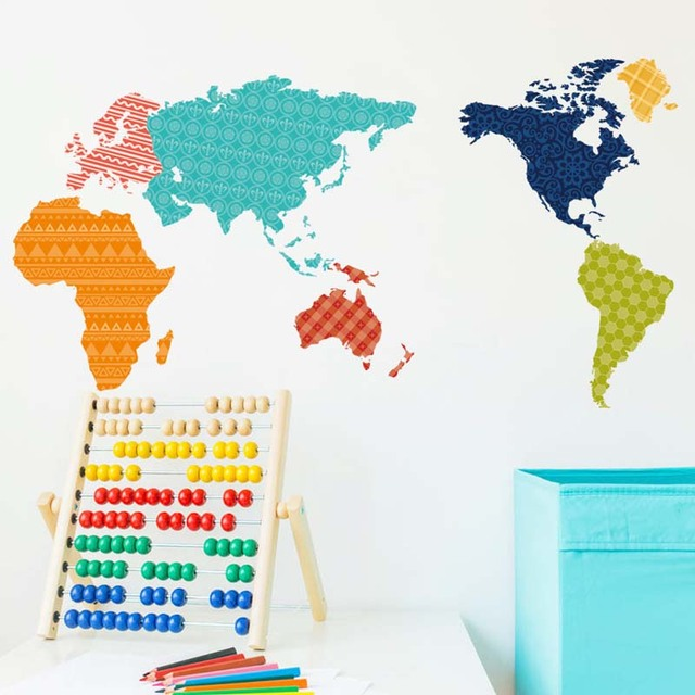 Fashion style popular wall stickers world map stickers cute cartoon fashion style popular wall stickers world map stickers cute cartoon room kindergarten children room stickers gumiabroncs Images