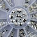 3D Metal Plata Nail Art Decoración Accesorios Suministros de Uñas Rueda Manicura Herramientas de Belleza Diseño de la Concha de Mar