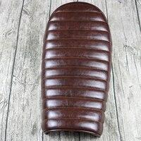 Mayitr Brown Hump Custom Vintage Cushion Cafe Racer Motorcycle Flat Brat Styling Seat Saddle For Honda Suzuki