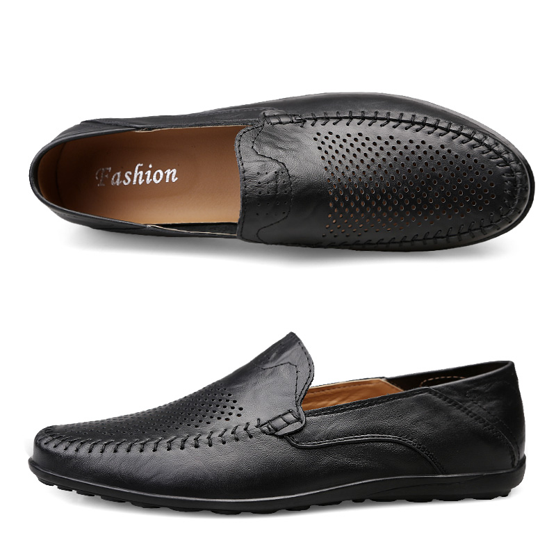 HTB1TQ5RUCzqK1RjSZFjq6zlCFXao Genuine Leather Men Casual Shoes Luxury Brand Mens Loafers Moccasins Breathable Slip on Black Driving Shoes Plus Size 37-47