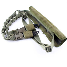 Tactical Military Airsoft Hunting Dual Two 2 Points Gun Sling Adjustable Shoulder Bungee Rifle Gun Sling System Strap Hook Gear(China)