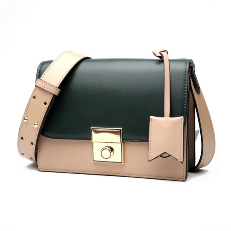 Genuine Leather Women Shoulder Bags Organ Messenger Bags Panelled Fashion Small Flap Bags Lady Crossbody Bags HandbagsGenuine Leather Women Shoulder Bags Organ Messenger Bags Panelled Fashion Small Flap Bags Lady Crossbody Bags Handbags