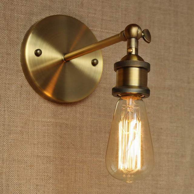 Gold Bathroom Vanity Lights. Industrial Style Antique Gold Metal Wall Lamp For Workroom Bathroom Vanity Lights Corridor