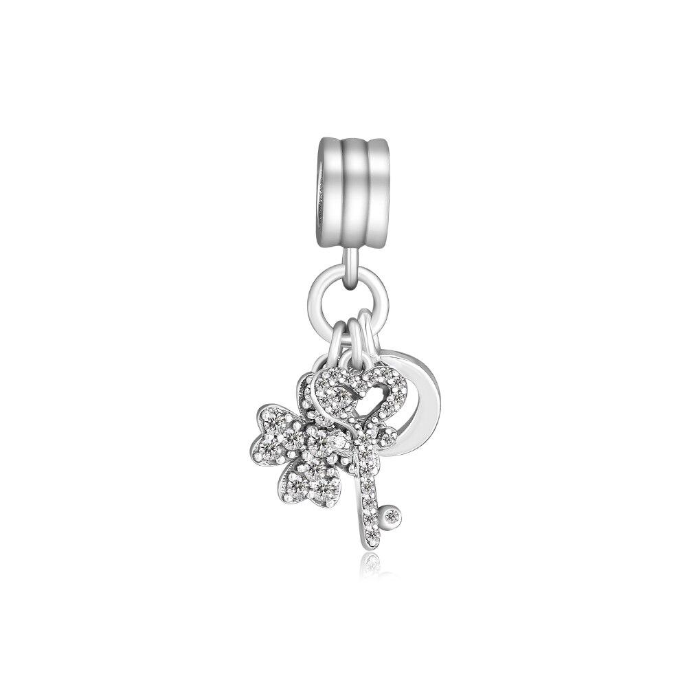 faac0100ce35 CKK Fit Pandora Charms pulsera 925 pulsera de plata esterlina Glamour trío  cuelga cuentas del ...