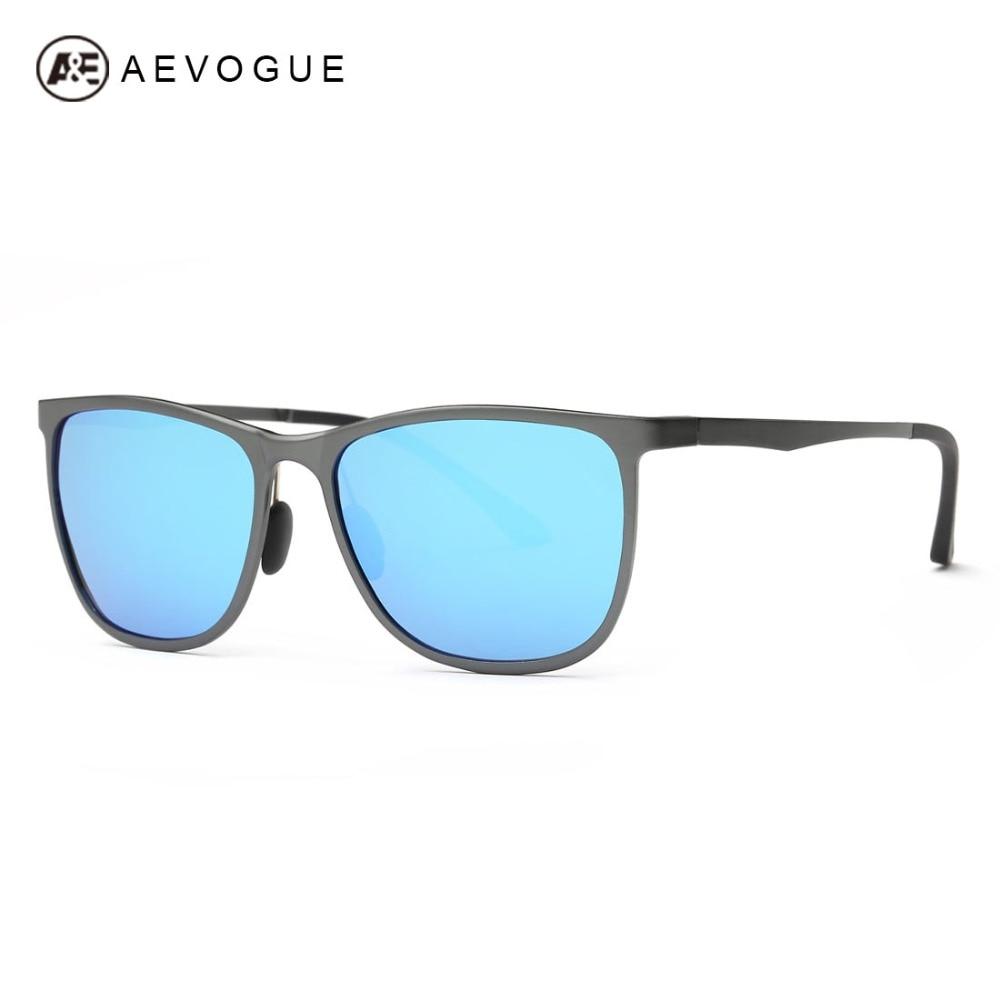 AEVOGUE поляризованный Солнцезащитные очки для женщин Для мужчин Брендовая Дизайнерская обувь супер легкий Алюминий-mgnesium сплав Рамки Очки пок...