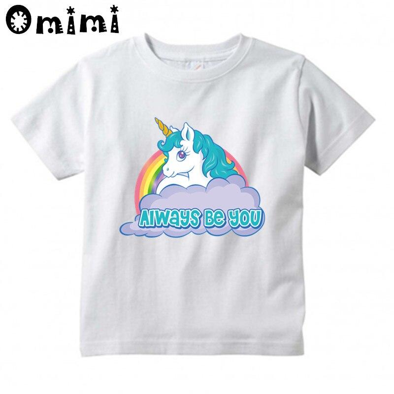 Boys/Girls 3D Unicorn We Can Do It Cartoon Design T-Shirt Childrens Funny Short Sleeve Tops Clothing Kids T Shirt,HKP3014