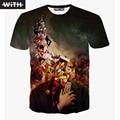 Mens T shirts Moda 2016 Mujeres 3d Camiseta Jordania Simpsons hierro Hombre Muerto Caminando Gráfico Animal Print Camiseta homme CON YZ624