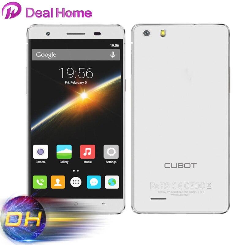 Цена за Оригинальный Новый Cubot X16S MT6735A Смартфон Четырехъядерных Процессоров 5.0 Дюймов 2/3/4 Г чистая 3 Г RAM 16 Г ROM 1280*720 Android 6.0 Мобильный Телефон