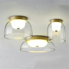Постмодерн художественная стеклянная миска дизайн потолочный светильник креативный ретро спальня комната ресторан коридор лампа