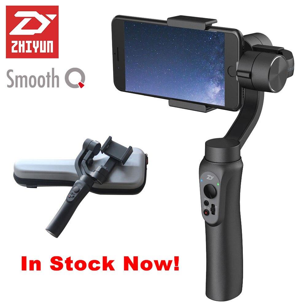 Prix pour Zhiyun lisse q 3-axis cardan stabilisateur de poche pour iphone 7 plus 6 plus samsung galaxy s7 s6 smartphone vertical tir