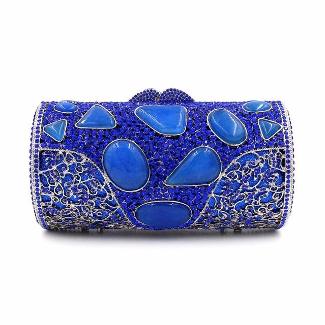 BL033 Luxury diamante evening bags colorful clutch bags women party purse  dinner bags crystal handbags gemstone wedding bags