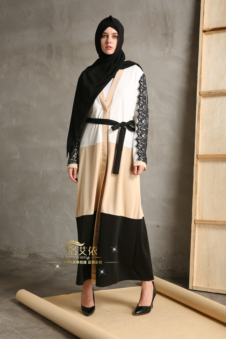 8a716d16e 2016 مسلم سترة djellaba التركية النساء الملابس معطف طويل دبي الأزياء عالية  الجودة سترة أبلى