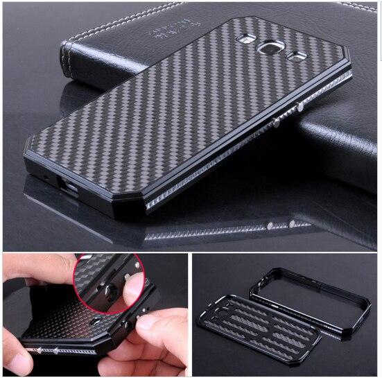 Premium Metal Aluminum Frame & Carbon Fiber Back Cover Original Mobile Phone Cases For Samsung