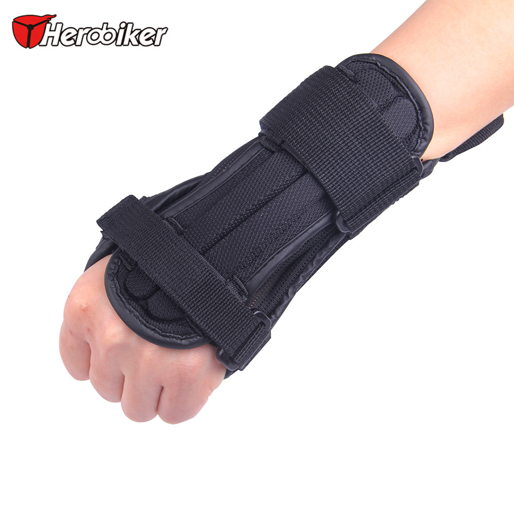Herobiker Motorcycle Skiing Arm Guard Wrist Support Motorcycle Protective Gears Hand Guards Lycra Sports Hand EVA Protector